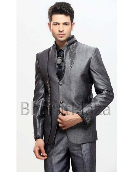 Buy Aristocratic Shiny Fabric Suit online. http://www.bharatplaza ...
