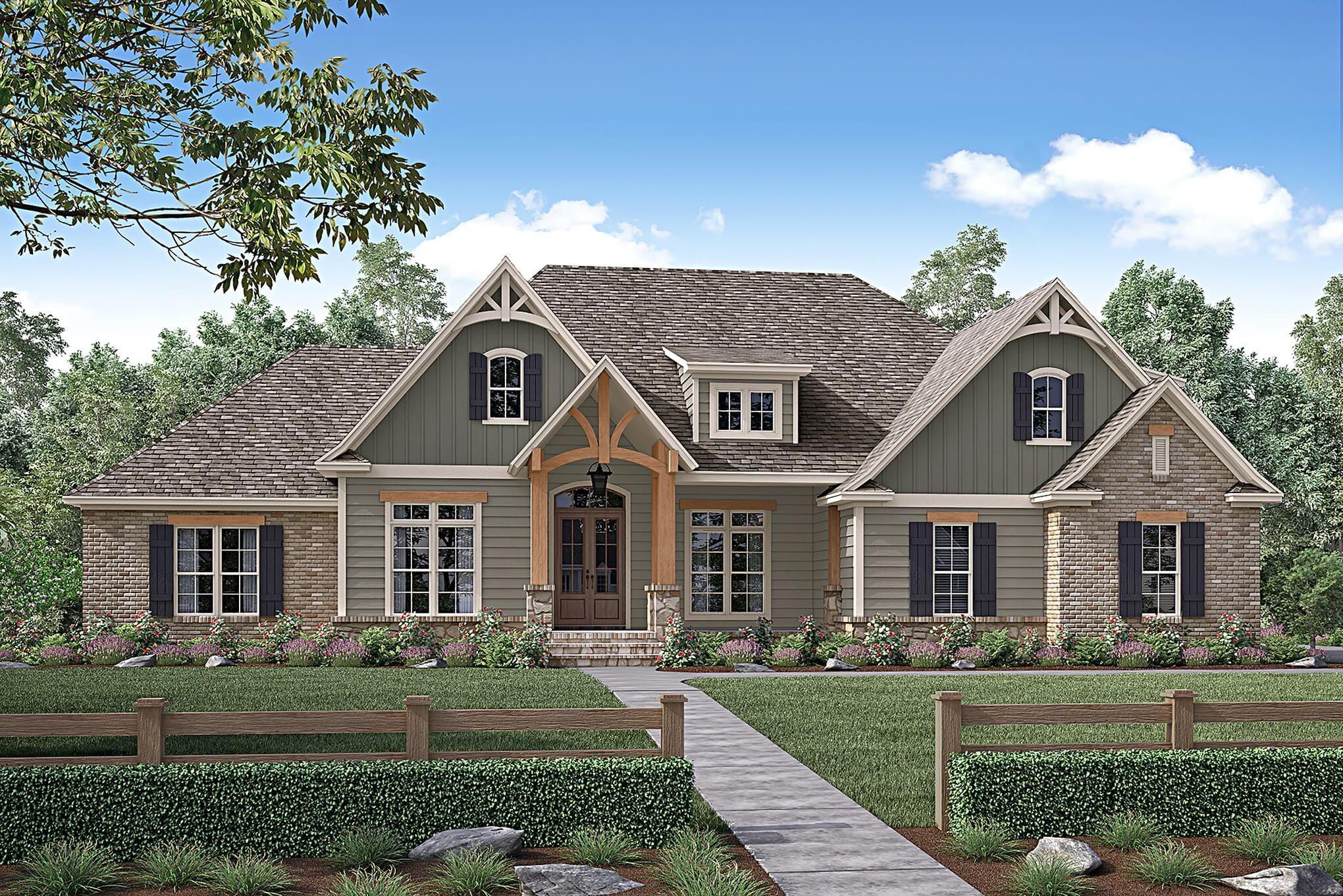 Coronado House Plan House Plan Zone In 2020 Brick Exterior House Craftsman House Craftsman Style House Plans