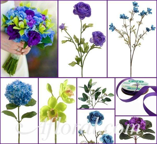 Purple Blue Green Wedding Flowers Desiree S Inspiration Board