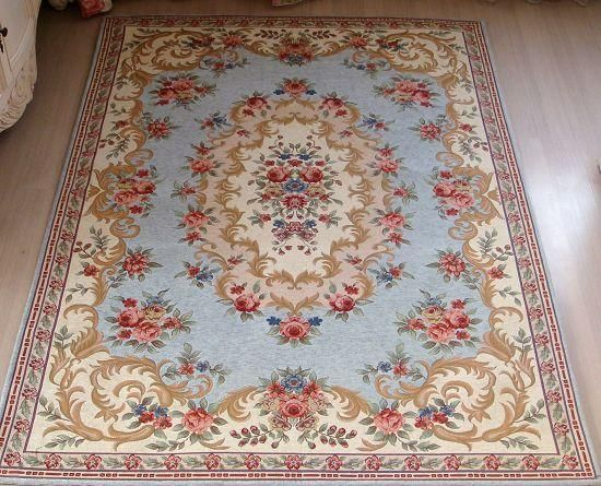 French Victorian Classic Country Floral Patterned Blue