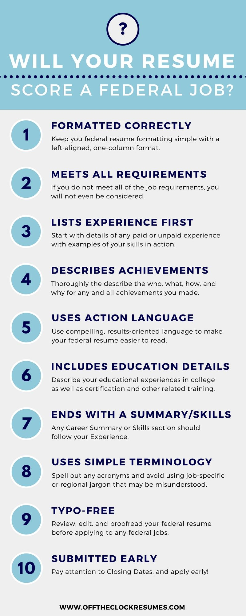 Will Your Resume Score A Federal Job? | Pinterest | Infographic