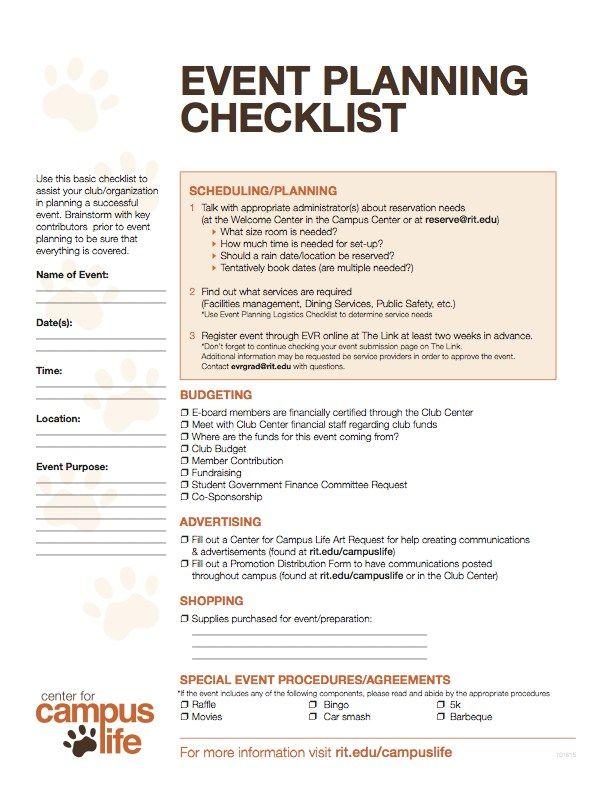 event planning checklist  u0026 logistics