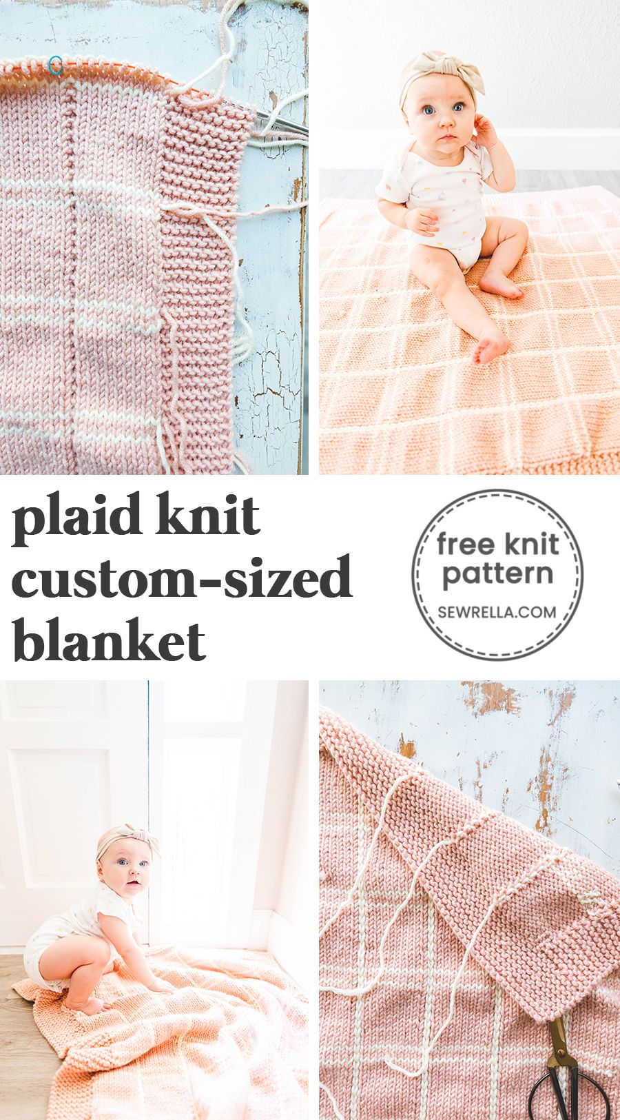 How to knit a plaid blanket cute sewing projects