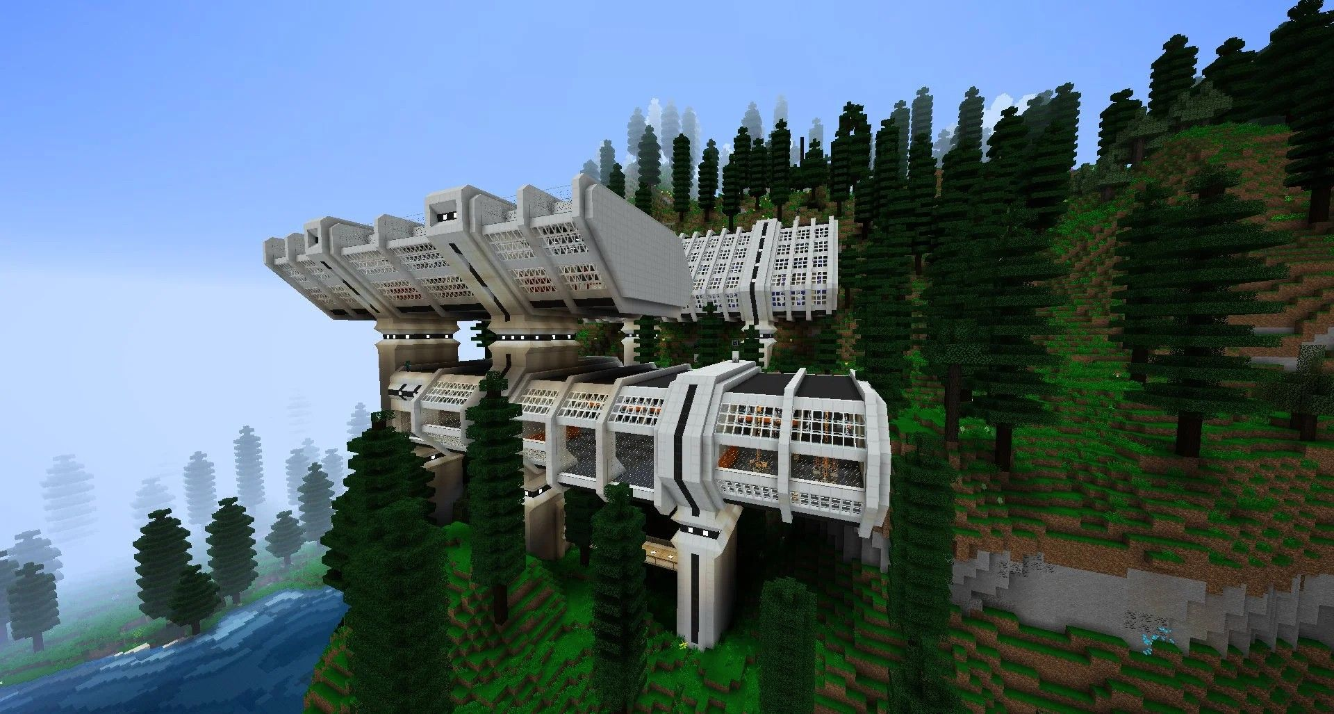From Reddit. Minecraft Futuristic Base In 2020