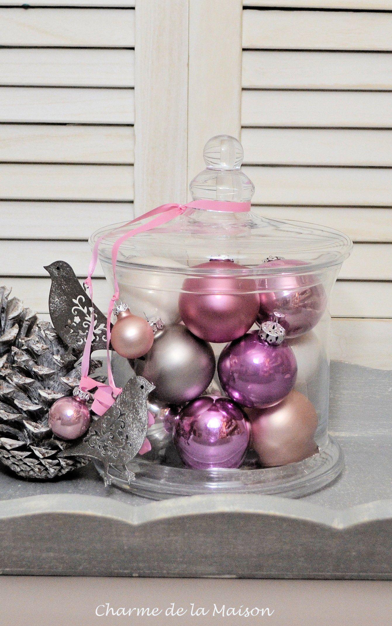Weihnachtsdekoration ~ Bonbonnieren mit Glaskugeln