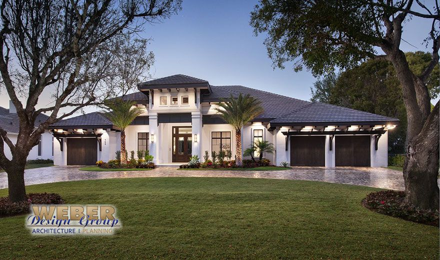 Abacoa House Plan, Transitional West Indies style, luxury single story, outdoor living & entertainment, contemporary open concept floor plan, pool detail.