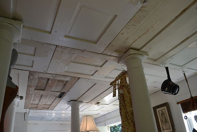 wooden door ceiling. great reuse idea. by beauty that moves, via Flickr