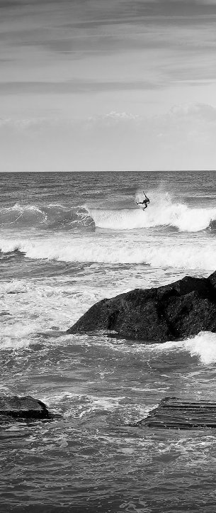 contrast   surfing in black and white