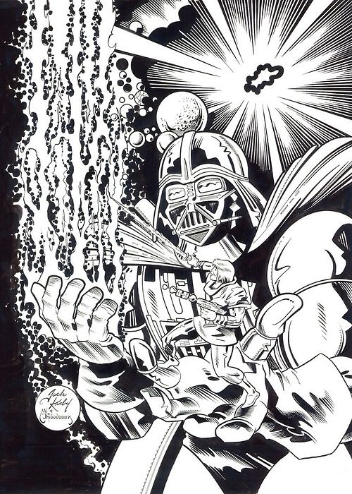 thebaxterbuilding:  Jack Kirby drew Darth Vader only once. But he drew Dr Doom in 15 issues of Fantastic Four.  Only 15?  I feel like that&#...