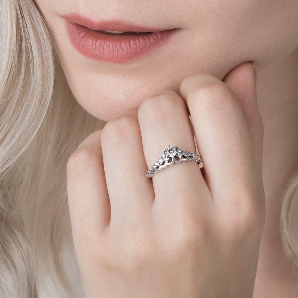 0bd539c69 Cheap Genuine Pandora Fairytale Tiara Ring Sale Clearance UK ...