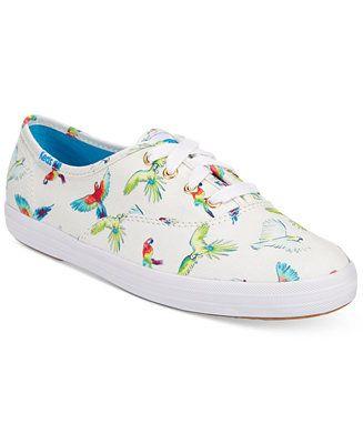 0f83f8dfaa06 Keds Women s Champion Birds of Paradise Sneakers - Sneakers - Shoes - Macy s