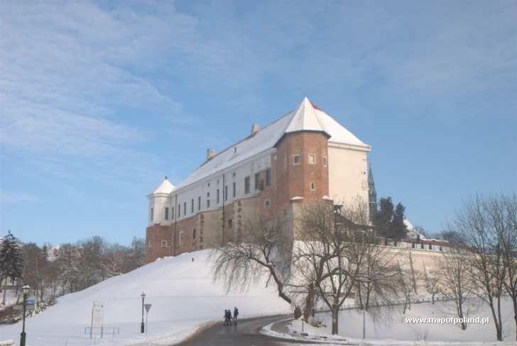 Zamek zimą - Sandomierz
