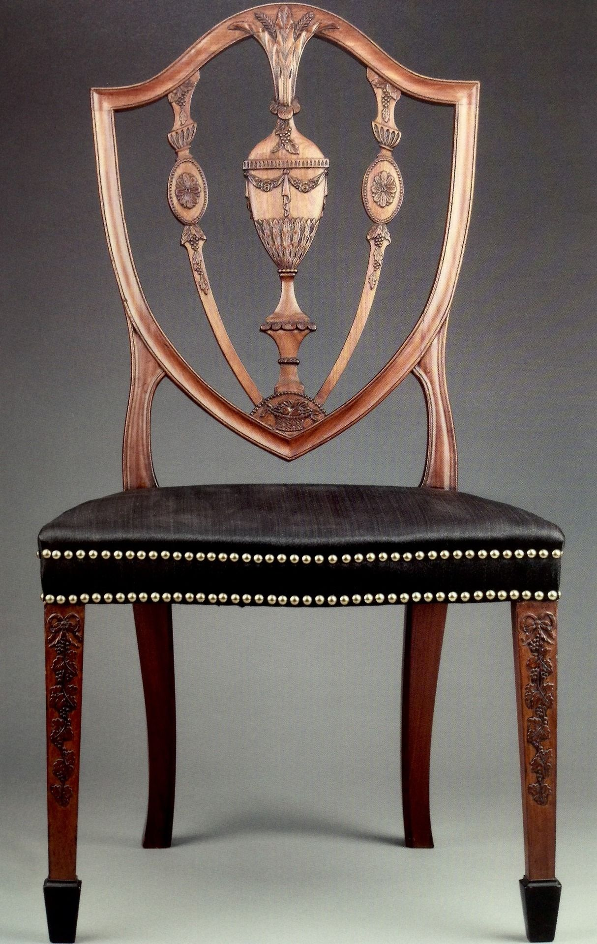 Chair Made In Salem And Carved By Samuel Mcintire 1790s