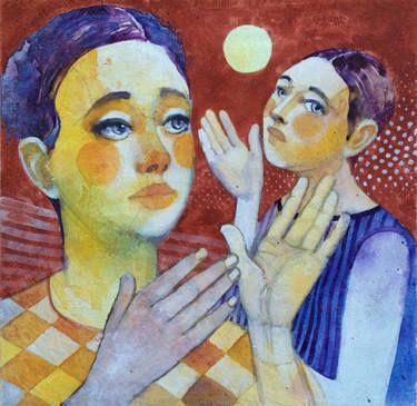 "Saatchi Art Artist Alessandro Andreuccetti; Painting, ""At moonlight"" #art"