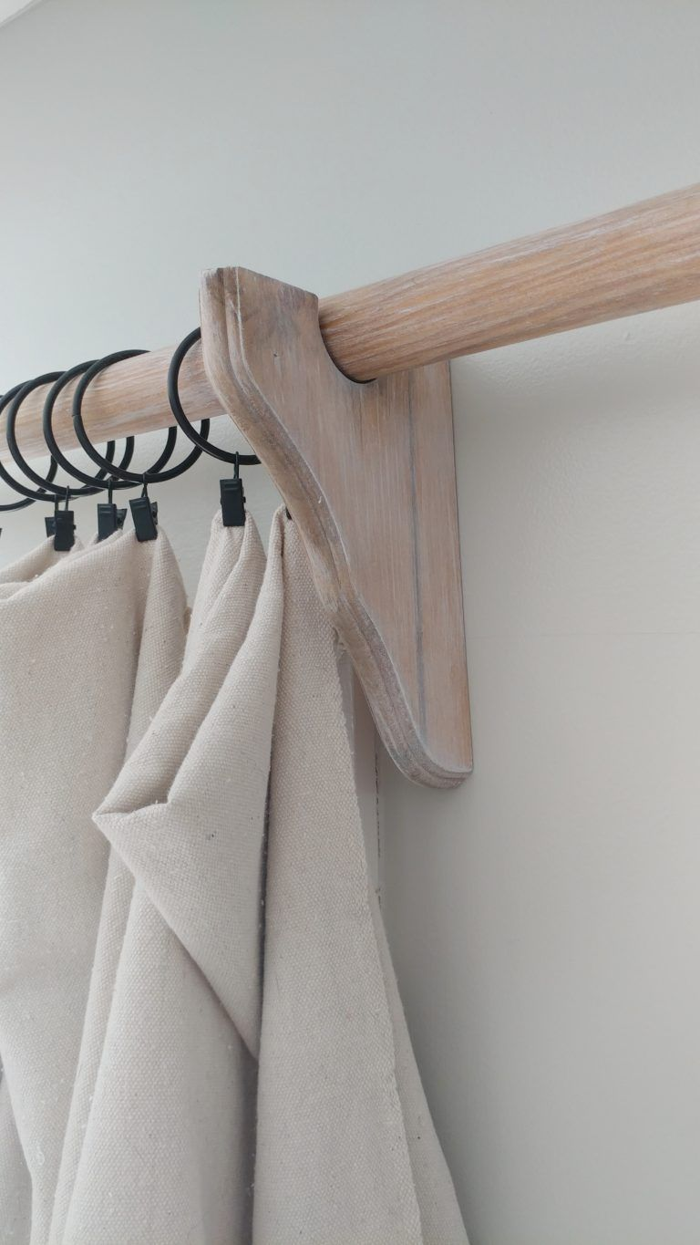 Wood Curtain Rods Life On Summerlin Wood Curtain Rods Wood