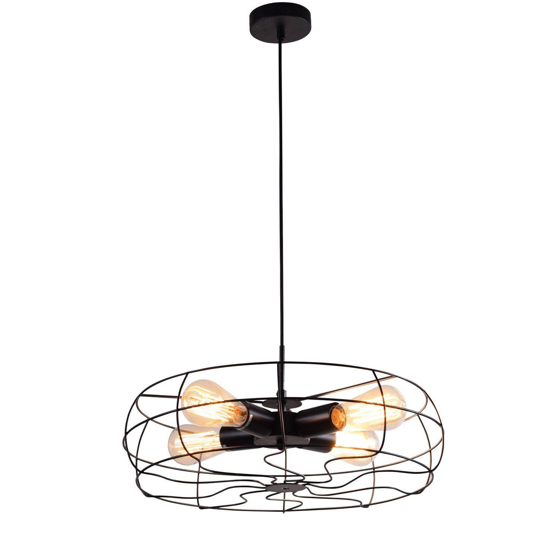 Lampa Bergen Czarna 4x20w E27 Dekoracje W 2019 Lampy