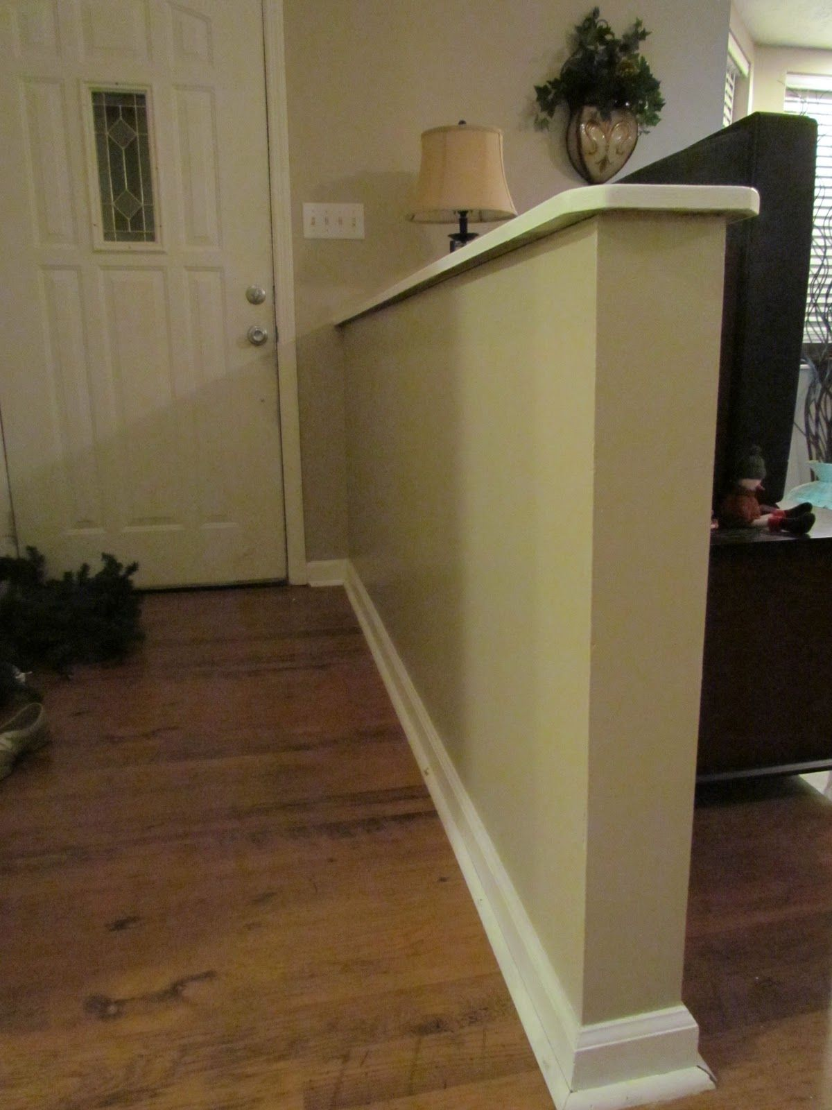 Half wall entryway google search room dividers pinterest search entrance and entryway - Room divider half wall ...