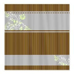Elegant Brown And Blue Shower Curtains An Design Of Horizontal Stripes In The