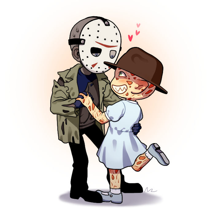 Jason X Freddy Par Nrjin Horror Movies Funny Horror Movie Characters Creepypasta Cute