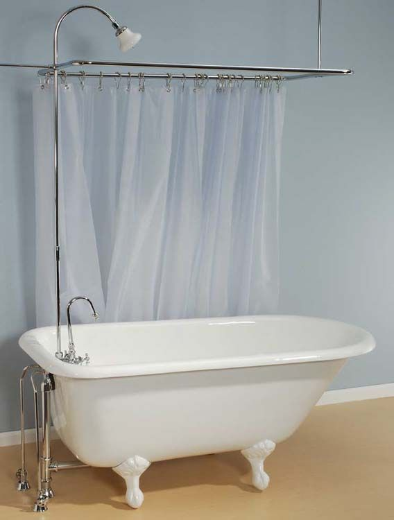Example of the Geneva clawfoot bath tub with white feet | Clawfoot ...