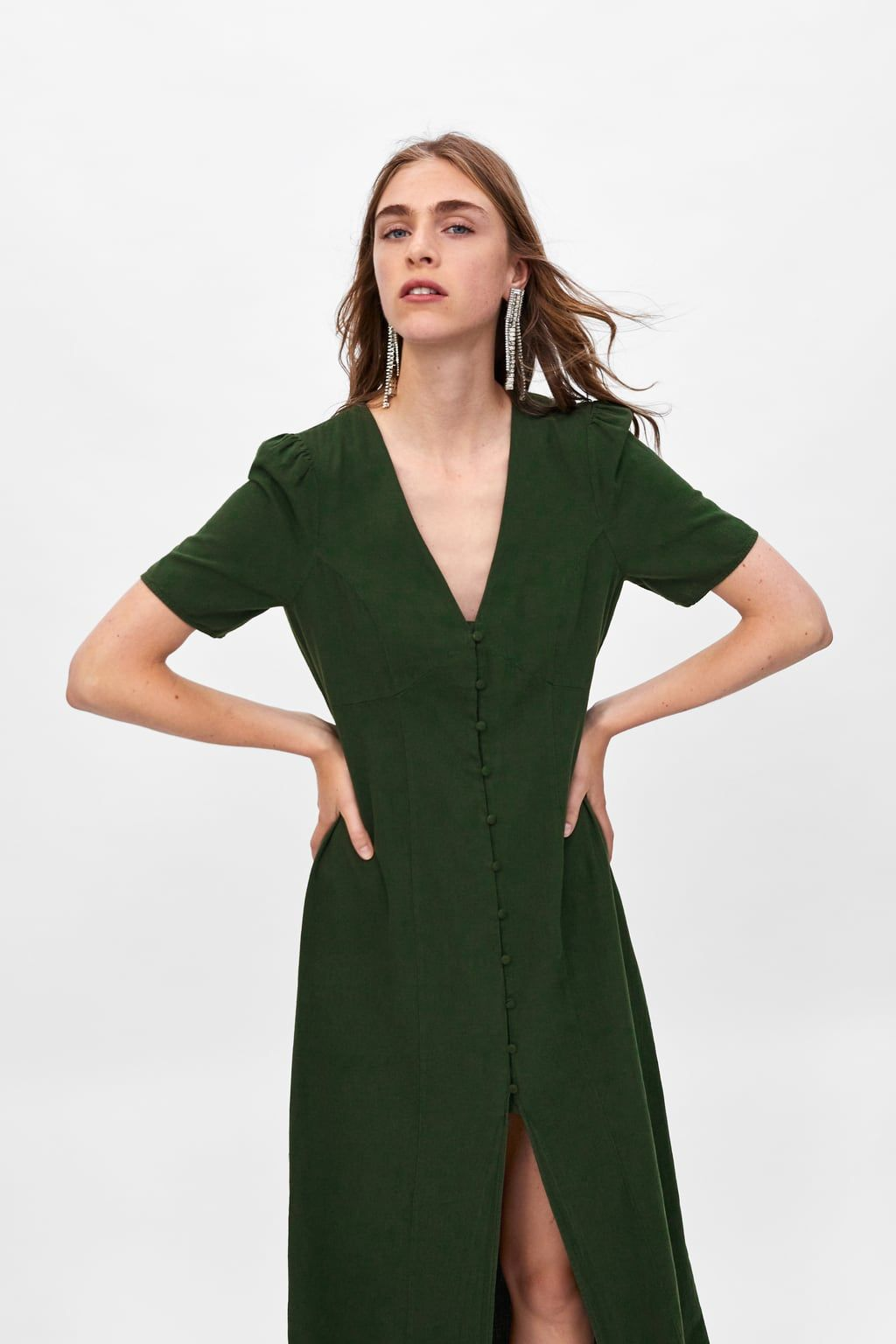 11c0127d0ea Image 2 of BUTTONED DRESS from Zara