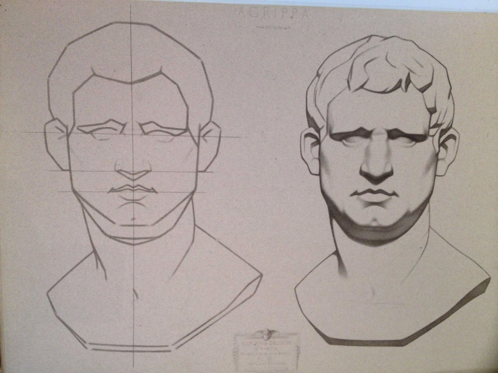Line Drawing Portrait Artists : Cast drawing sight size bargue drawings casts