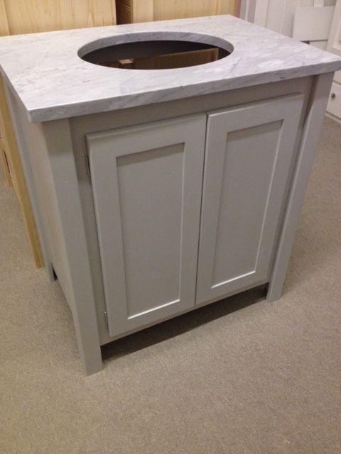Pavillion Grey Vanity Unit With Carrara Marble Top This Vanity Unit