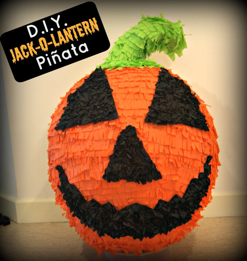 "How to Make A Halloween ""JackOLantern"" Pumpkin Pinata in"