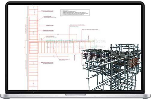 Reinforced Concrete Beam Column End Support Detail