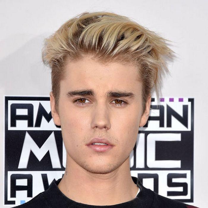 Blonde Haare Langer Textur Pinsel Zurück Justin Bieber Frisur