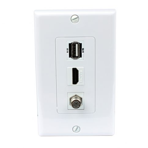 Combination 1 Port Hdmi And 1 Port Coax Cable F Type And 1 Port Usb A A Decora Wall Plate Plates On Wall Plates Decora