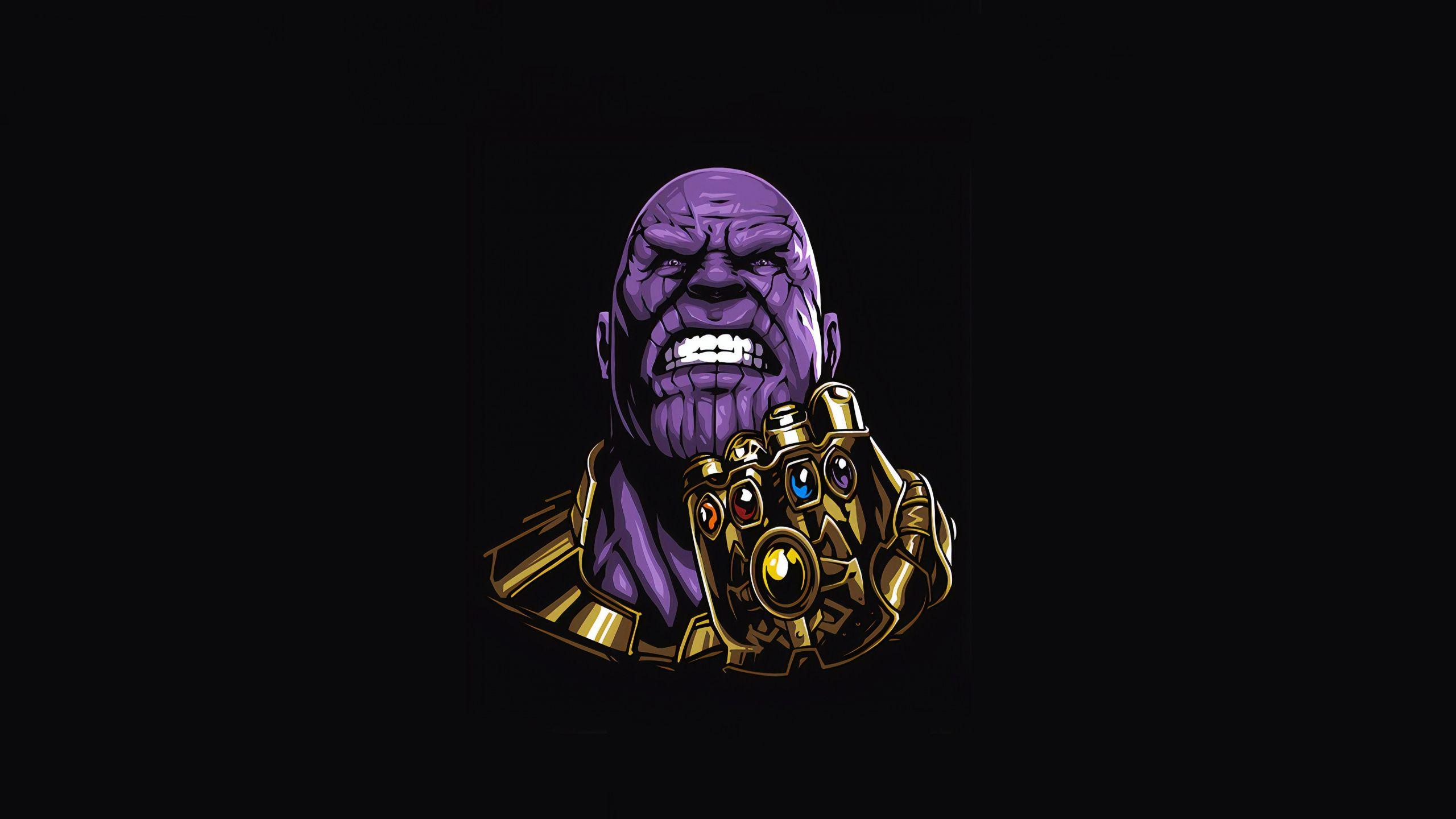 2560x1440 Thanos Super Villain Minimal Art Wallpaper Art Wallpaper Art Super Villains