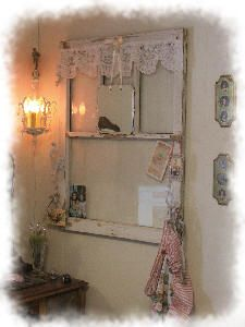 Cottage Window Shelve, now I know what to do with old window frames.