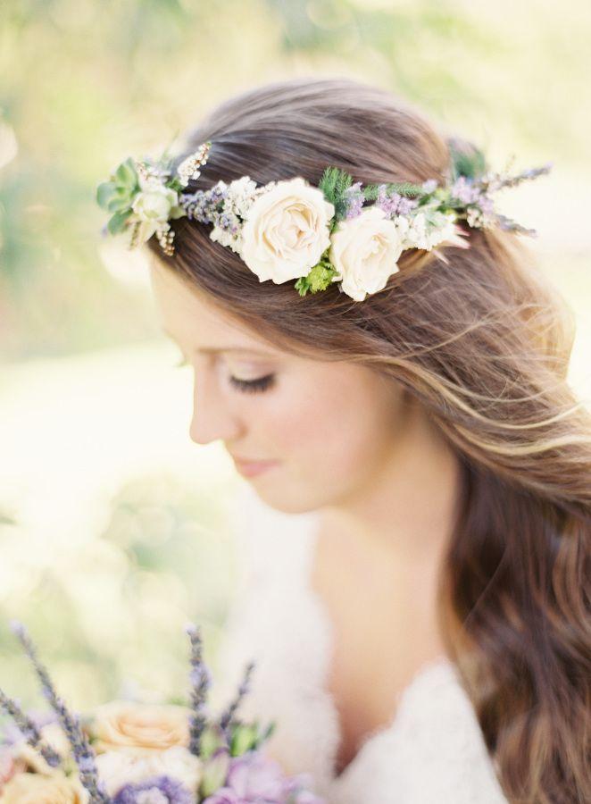 Bohemian floral crown: http://www.stylemepretty.com/california-weddings/temecula/2015/11/04/whimsical-summer-wedding-at-temecula-creek-inn/   Photography: Sposto Photography - http://spostophotography.com/