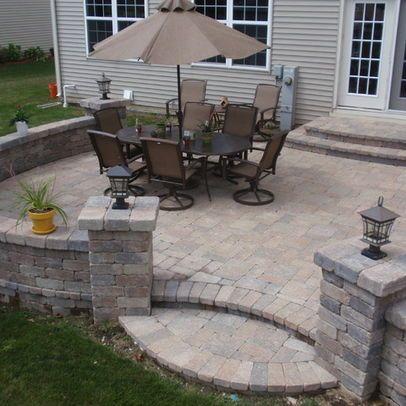 Paver Steps Design Ideas Pictures Remodel And Decor Patio Pavers Design Small Brick Patio Patio Design