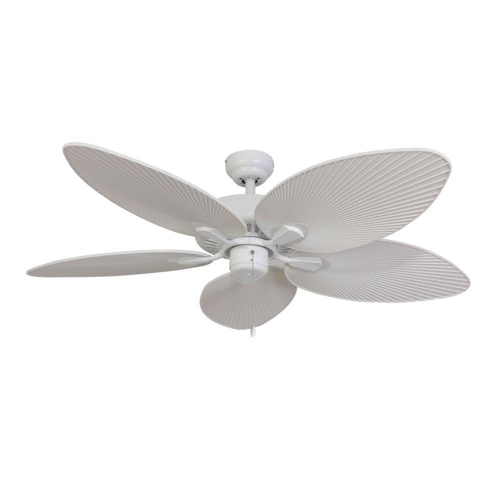 Sahara Fans Tortola 52 In White Ceiling Fan 10053 The Home Depot In 2020 White Ceiling Fan Ceiling Fan 52 Inch Ceiling Fan