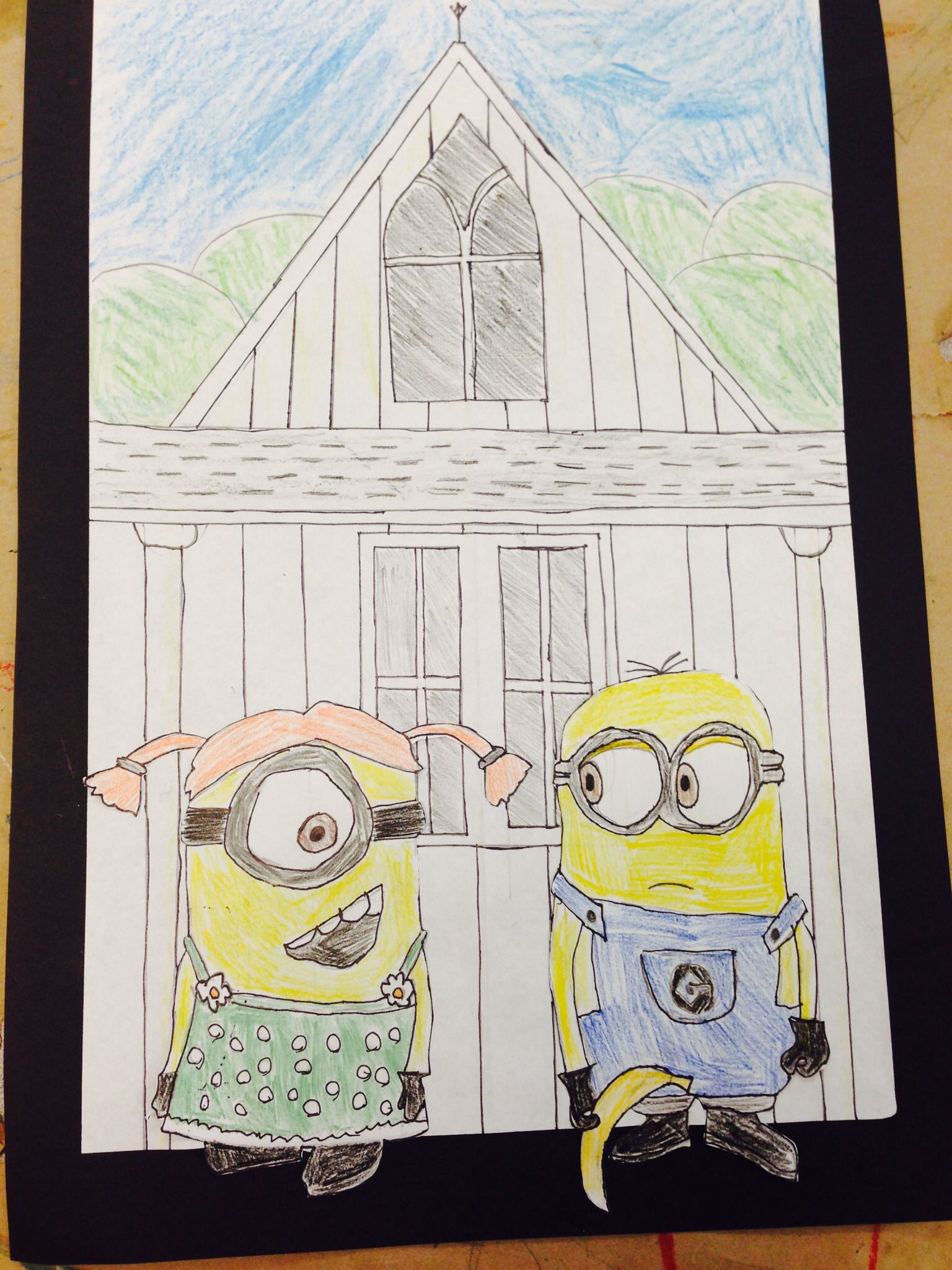American Gothic Parody 5th Grade Could Use Any Character