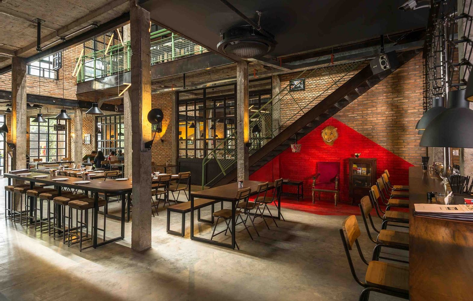 Gallery Of Industrial Brewery Pub In Saigon T3 Architects 19 Brewery Pub Architecture