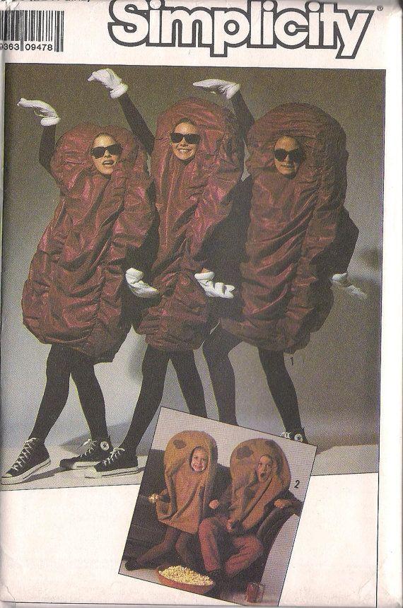 california raisin potato costume pattern sewing pattern child 2 3 4 5 6 7 8 10 - California Raisin Halloween Costume