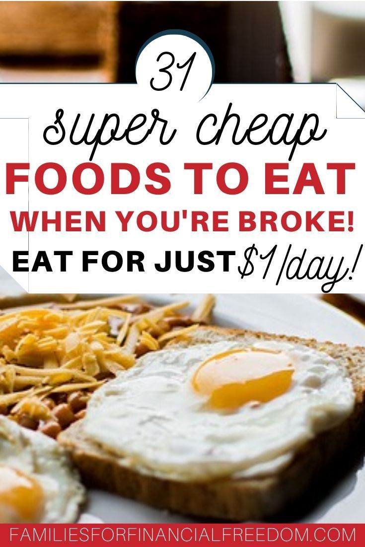 The BEST Cheapest Food: 31 Cheapest Groceries List for When You Are on a Tight Budget