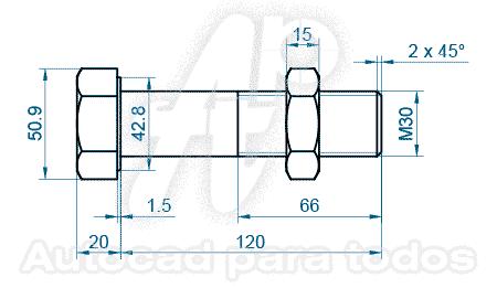Autocad Para Todos 100 Practico Perno Y Tuerca En 3d 1 De 3 Autocad Varios Dibujo Geometrico Ejercicios De Dibujo Arte Y Matematicas