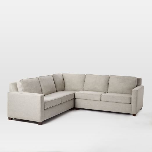 Henry174 3Piece LShaped Sectional Basement furniture Living