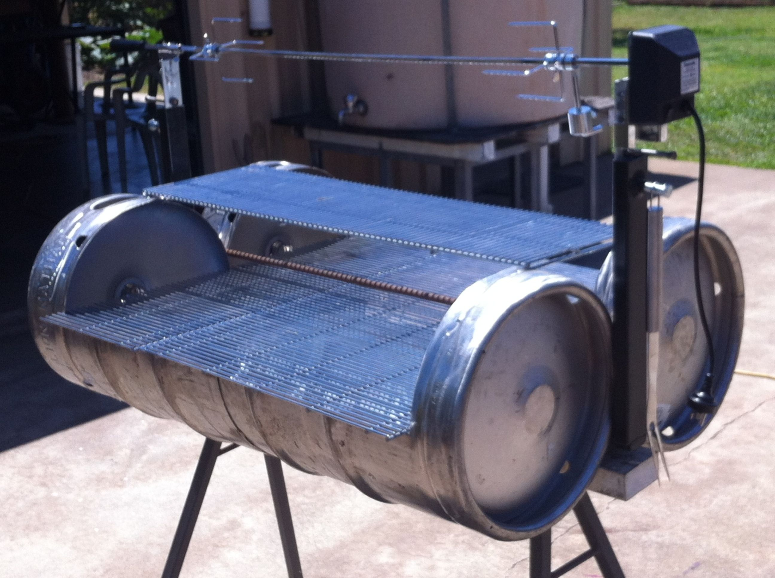 Keg bbq with rotisserie