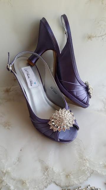 Lilac Wedding Shoes Lavender Bridal Shoes Sling Back Shoes