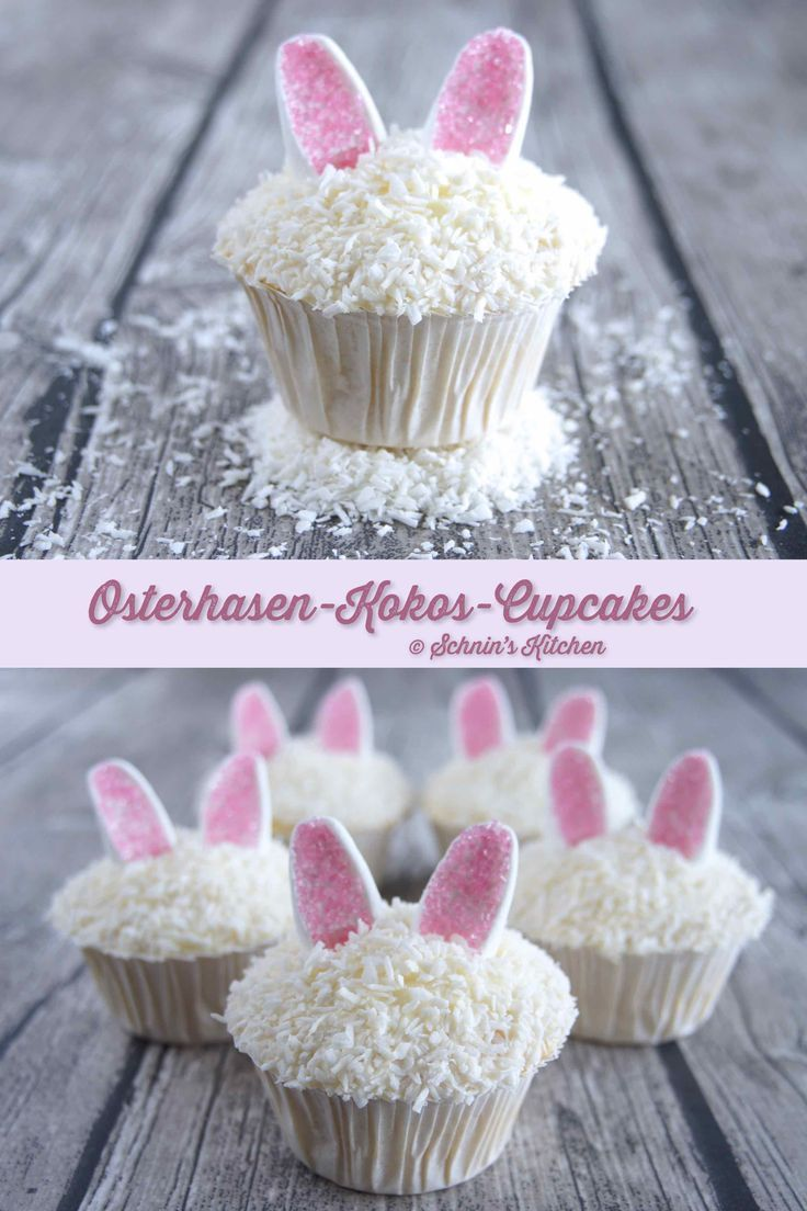 Supersaftige Osterhasen-Kokos-Cupcakes - Schnin's Kitchen