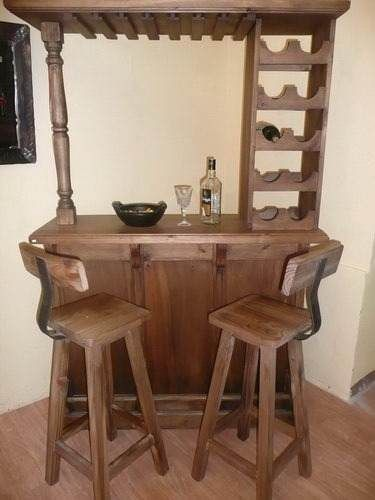 Resultado de imagen para bar rustico de palets bordado a for Bar hecho en madera