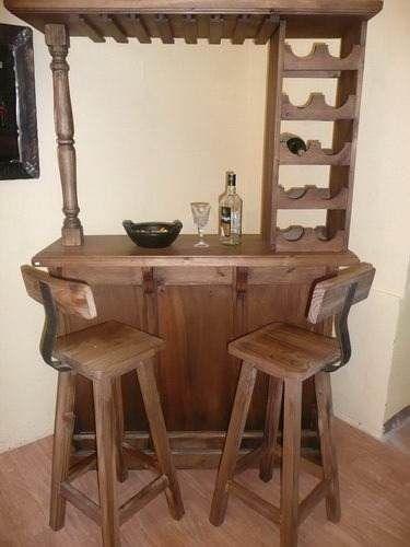Resultado de imagen para bar rustico de palets bordado a for Bar modelos madera