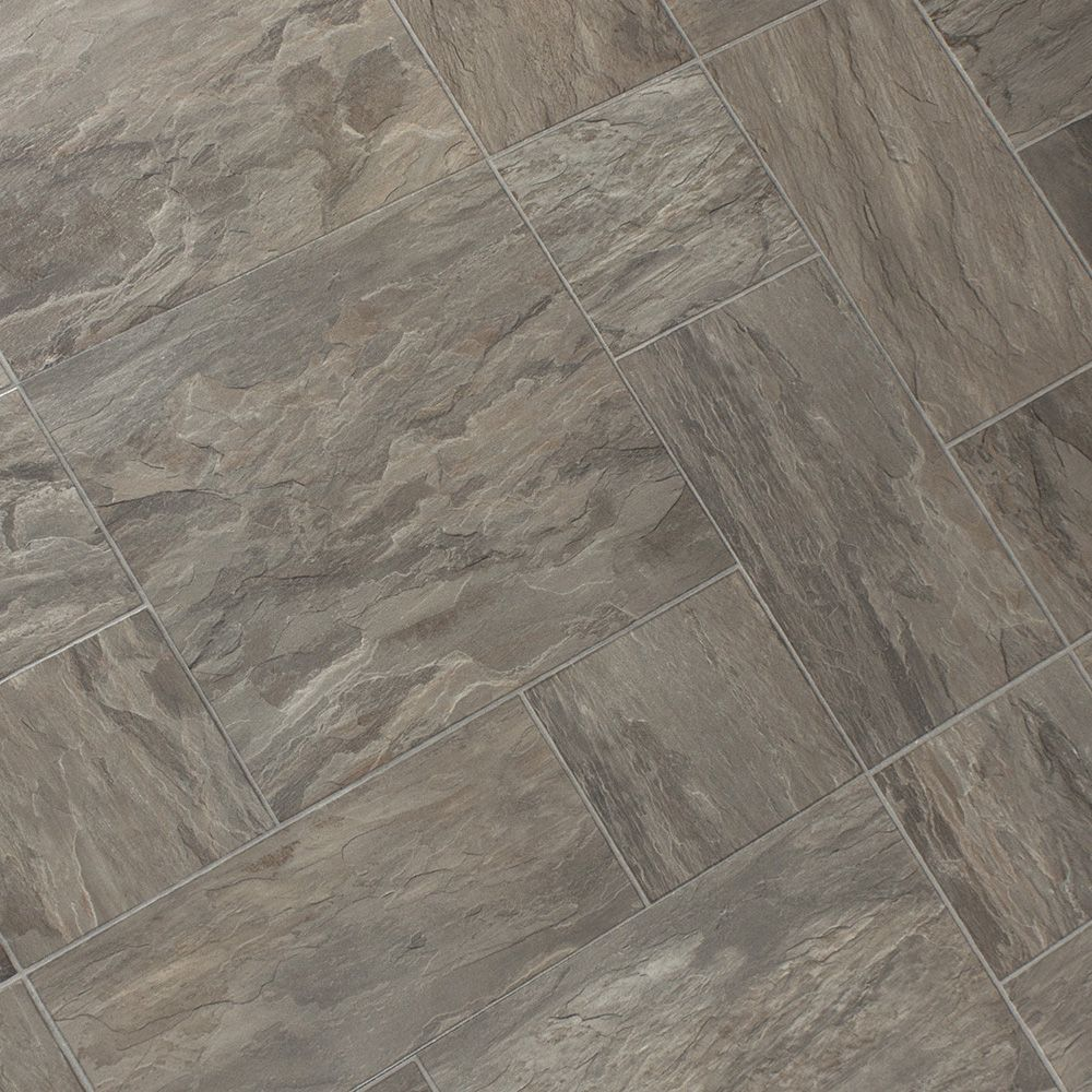 Faus Cottage Slate Oyster 8mm Laminate Tile Flooring ...
