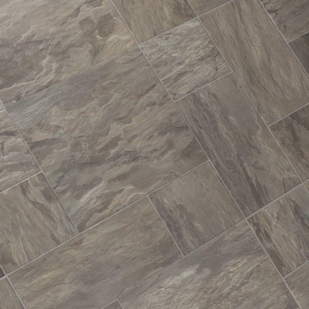 Faus Cottage Slate Oyster 8mm Laminate Tile Flooring ...
