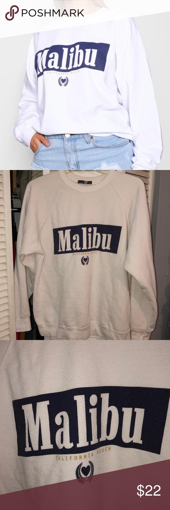 Boohoo Plus Size Malibu Crewneck Sweatshirt Crew Neck Sweatshirt Sweatshirts Clothes Design [ 1740 x 580 Pixel ]